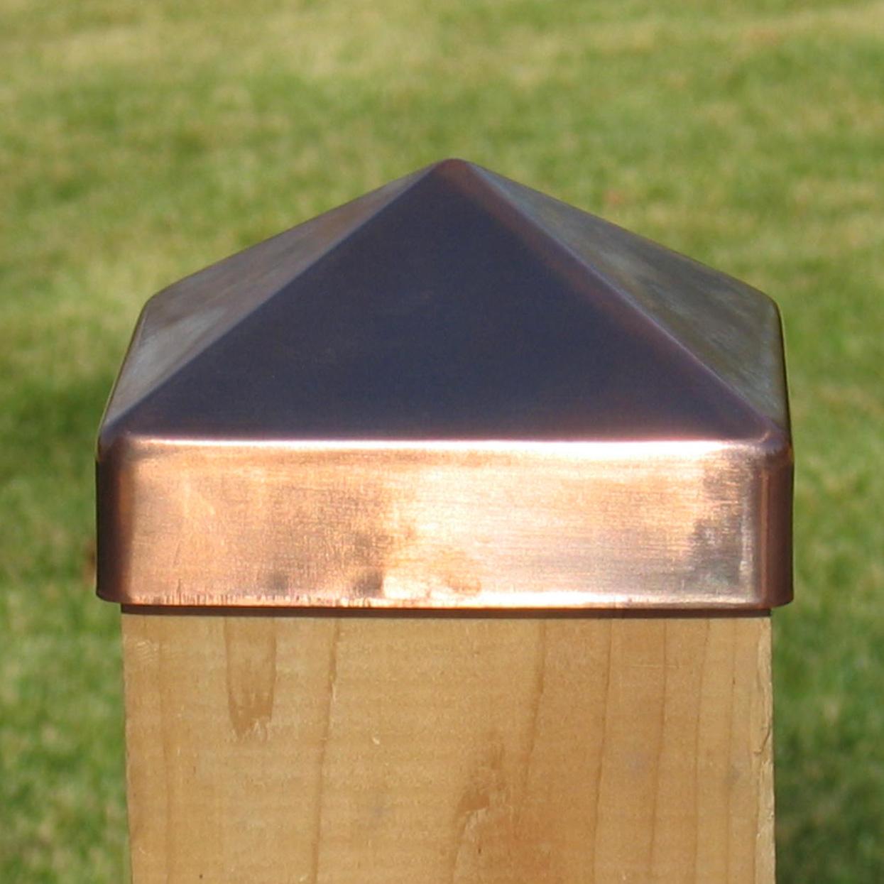 Copper Fence Post Caps Metal Deck Post Tops Post Cap Depot