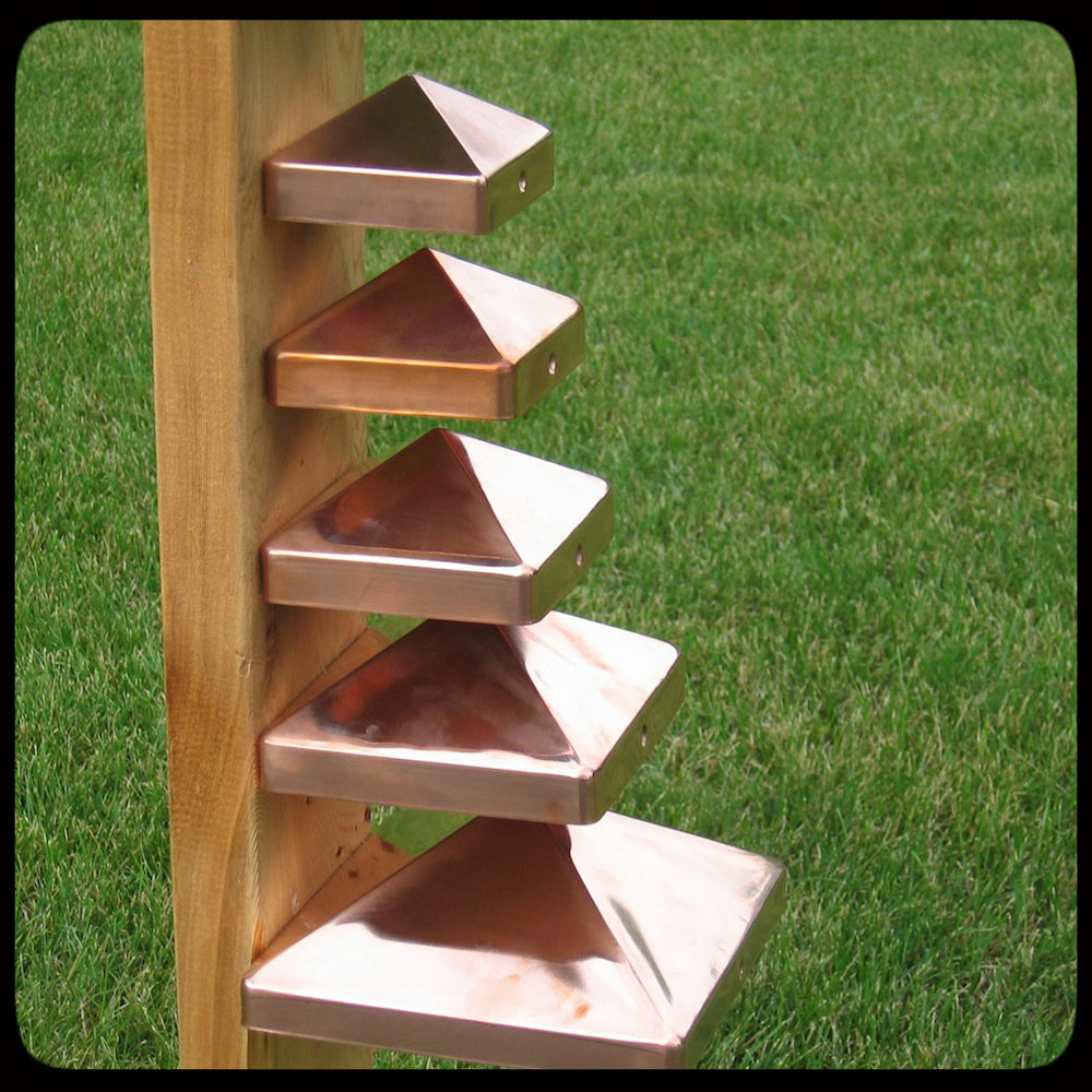 copper pyramid fence post caps various sizes 4x4 5x5 6x6 8x8