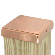 "100% Copper Flat Top Post Caps sit directly on top of your fence or deck posts and provide decades of protection from the weather. Our 20-gauge copper fence caps come in 4x4, 4x6, 6x6, and 8x8 inch sizes, and our signature 1"" lip protects fence and deck posts better than the competition."