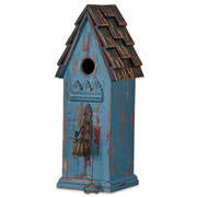 Federal Blue Mahogany Interior Bird House