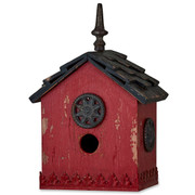 Red Harvest Mahogany Interior Bird House