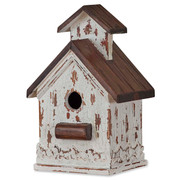 Chapel White Mahogany Interior Bird House