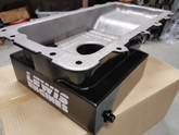 XR-8   -5.4 litre Ford Barra race oil pans, control oil surge 7.5 litres, gated. NOTE we require your old sump to build from.