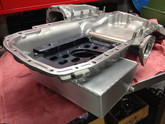 GTR- AWD  Lewis Engines fabricated race sumps 8 litres, baffled.