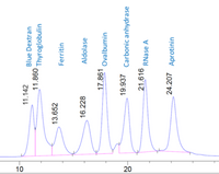 SEC HPLC profile of CellMosaic's protein standard