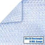 30' x 50' Rectangle Magni-Clear Solar Cover 14 Mil 6 Year Warranty