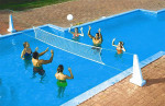 Pool Jam Combo In-Ground Basketball and Volleyball Game