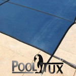 14x28 Rectangle Mesh Safety Cover Blue Royal Mesh 15 Year