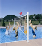 DunnRite Deck Volly Regulation Pool Volleyball Game Set