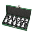10pcs 1/2 Drive Hex bit socket set with metal case. This picture happens to be of the Satin Finish, but this part # GAAD1008 is finished in Chrome