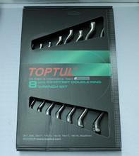 8 pc wrench set, metric, chrome finish, in retail box