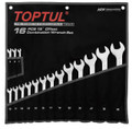 16pcs Super-Torque Combination Metric Wrench set   Satin Finish