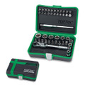 45 Pcs Professional Grade 1/4 Dr Mini Ratchet Socket & Bit Set