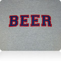 New England Patriots Beer T Shirt (Gray Navy Red)