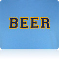 Atlanta Thrashers Beer T Shirt (SkyBlue Navy Gold)