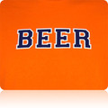 Illinois Fighting Illini Beer T Shirt (Orange Navy White)