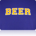 LSU Tigers Beer T Shirt (Purple Gold White)