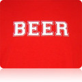 Rutgers Scarlet Knights Beer T Shirt (Red White White)