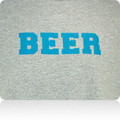 New Orleans Hornets Beer T Shirt (Gray AquaBlue)