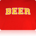 Calgary Flames Beer T Shirt (Red Gold White)
