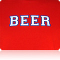 Detroit Pistons Beer T Shirt (Red White Blue)