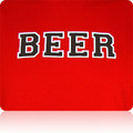 Rutgers Scarlet Knights Beer T Shirt (Red Black White)
