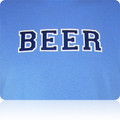 North Carolina Tar Heels Beer T Shirt (CarolinaBlue Navy White)