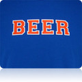New York Mets Beer T Shirt (Royal Orange White)