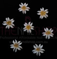 3D Flexible Flowers for Nail Art (20PCS) - White & Yellow Daisies