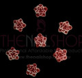 3D Flexible Flowers for Nail Art (20PCS) - Red & White Petals