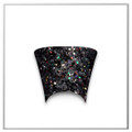 Tip Jar Black Glitter Small Flare Duck Tips (Box of 100) - MADE IN USA