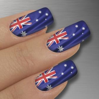 Glamstripes Nail Covers - Australian Flag