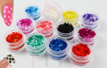 12PCS Coloured Matte Round Glitter Set 2mm (12 Colours) - Chemical Resistant for Nail Art!