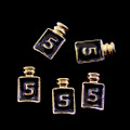 TNS Professional Nail Art Charms - Gold & Black Perfume Bottle (Pack of 5PCS)