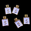 TNS Professional Nail Art Charms - Gold & White Perfume Bottle (Pack of 5PCS)