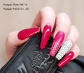 Example of Use. Pamper Plates Professional Nail Stamping Plates - Design #16 (Geometric Pattern, Netting)