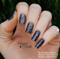 Example of Pamper Plates Professional Nail Stamping Plates - Design #19 (Geometric Patterns, Zig Zags & Lace)