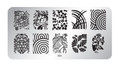 Pamper Plates Professional Nail Stamping Plates - Design #26 (Geomoetric, Hypnotic, Demask, Fans, Leaves & More!)