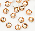 Champagne Crystals Flatback Nail Art Rhinestones (100PCS) - Available in 1.5mm, 2mm, & 3mm