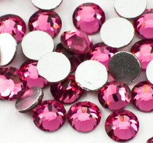 Rose Pink Glass Crystals Flatback Nail Art Rhinestones (100PCS) - Available in 1.5mm, 2mm, & 3mm
