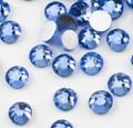 Light Blue Glass Crystals Flatback Nail Art Rhinestones (100PCS) - Available in 1.5mm, 2mm, & 3mm