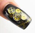 Steampunk Nail Art Metal Cogs Wheels Watch Clock Parts