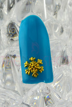 Christmas Gold Snowflake Nail Art Charms