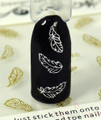 Falling Feather Nail Art Stickers (Available in Gold or Silver)