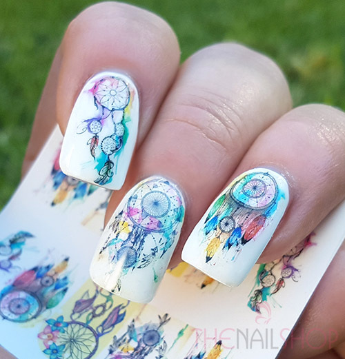 - Watercolour Style Dream Catcher Nail Art Decals (Design #2)