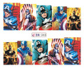 Comic Strip Nail Art (Water Decals) - Marvel Comics Captain America!