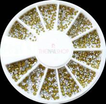 Extra Small Crystal Clear Chaton Rhinestone Nail Art Wheel