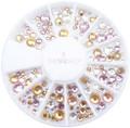 Special Soft Coloured Crystal Mix Flatback Rhinestone Wheel - 240PCS (1mm-5mm)