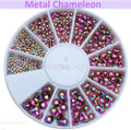 NEW Metal Chameleon Flatback Rhinestone Wheel - 240PCS (1mm-5mm)