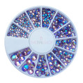 Rainbow Amethyst Purple AB Flatback Crystal Rhinestone Wheel - 240PCS (1mm-5mm)